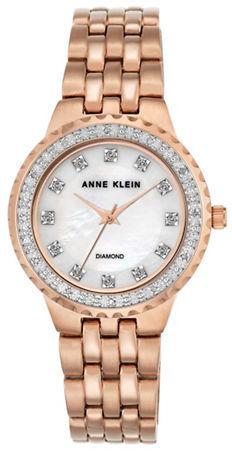 Anne KleinAnne Klein Diamond & Moth of Pearl Dial Quartz Watch