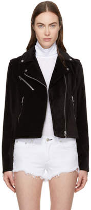 Rag & Bone Black Velvet Mercer Jacket