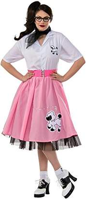 Rubie's Costume Co Women's 1950's Plus Size Poodle Skirt Costume,One Size