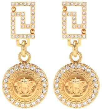 Versace Medusa crystal drop earrings