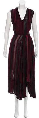 Zero Maria Cornejo Striped Maxi Dress w/ Tags
