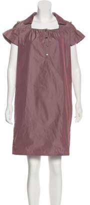 Burberry Two-Tone Pocketed Dress Mauve Two-Tone Pocketed Dress