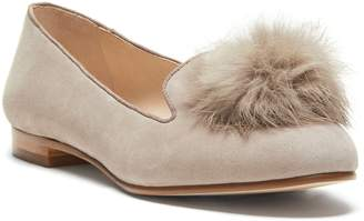 Louise et Cie Andres Genuine Rabbit Fur Pom Loafer