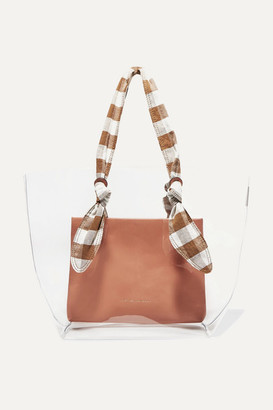 Loeffler Randall Lydia Pvc, Leather And Gingham Canvas Tote - Pink