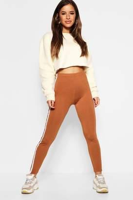 boohoo Petite Double Side Strip Legging