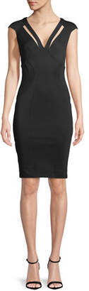 Zac Posen Joni V-Neck Cutout Cocktail Dress