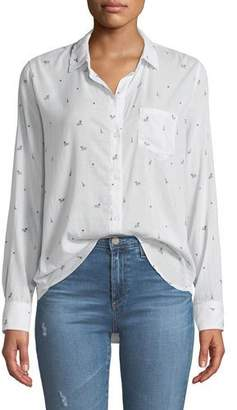 Rails Taylor Paris Printed Cotton-Cashmere Long-Sleeve Button-Front Shirt