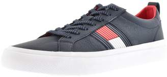 Tommy Hilfiger Flag Logo Trainers Navy