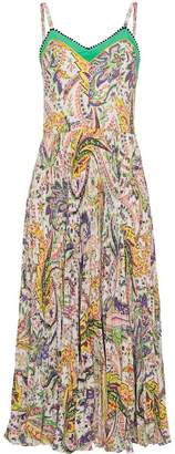 Etro floral pleated dress