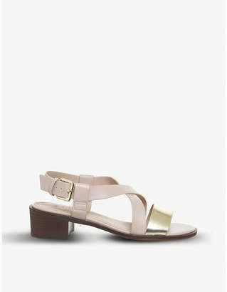 Office Midtown cross-over block heel sandals