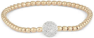 Wrapped Diamond Dot Stretch Bracelet (1/6 ct. t.w.) in 14k Gold over Sterling Silver, Created for Macy's