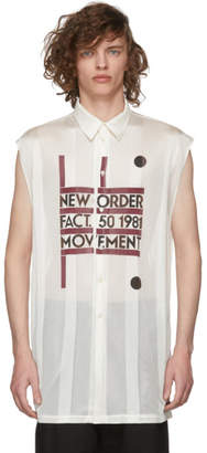 Raf Simons Beige Sleeveless New Order Power, Corruption and Lies Movement Shirt