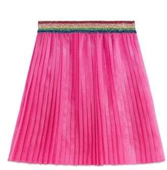 Gucci Pleated Iridescent Organza Skirt