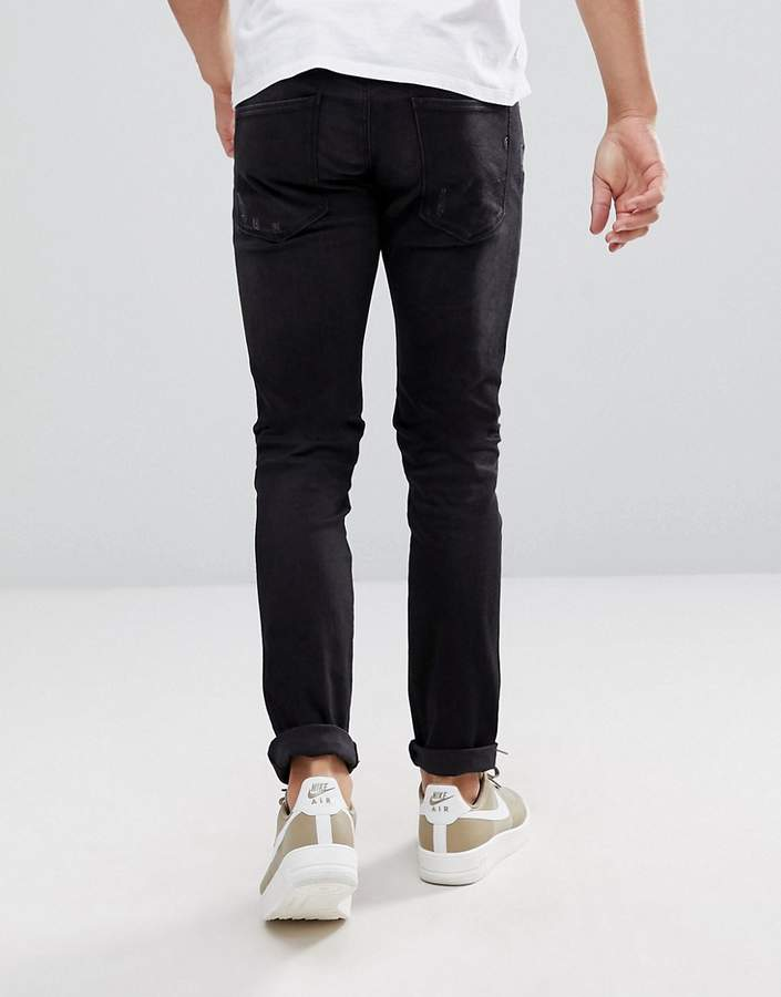 Replay Hyperflex Anbass Distressed Slim Jeans