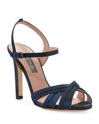 Sarah Jessica Parker Cadence High-Heel Camo Satin Sandals