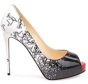 1afb3a2fc1f Christian Louboutin Patent Leather Peep Toe Pump - ShopStyle