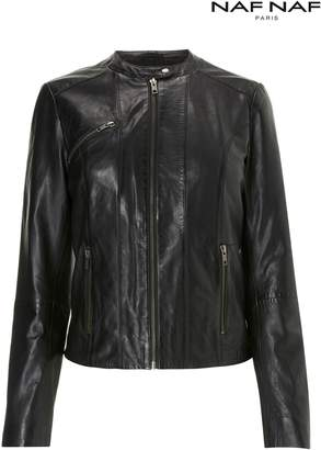 Next Womens Naf Naf Fitted Leather Jacket