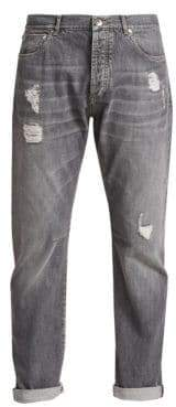 Brunello Cucinelli Distressed Faded Jeans
