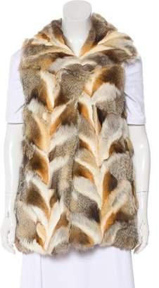 A.L.C. Fur Dual Pocket Vest