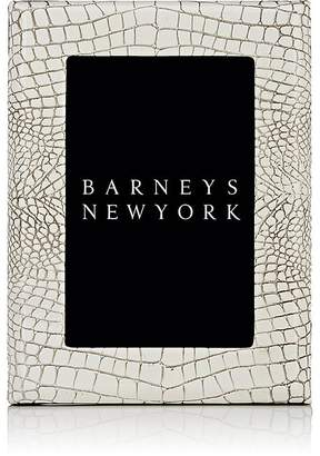 "Barneys New York Studio Crocodile-Embossed Leather 4"" x 6"" Picture Frame"