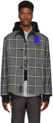 Oamc Grey Shearling Patch Jacket