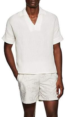 HECHO Men's Textured-Ribbed Silk-Linen Shirt