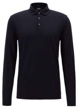 BOSS Hugo Travel Line polo shirt in Italian virgin wool M Open Blue