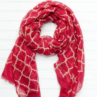 DAY Birger et Mikkelsen Tickled Pink Geometric Game Scarf , 40 x 70, 100% Polyester, Multiple Colors