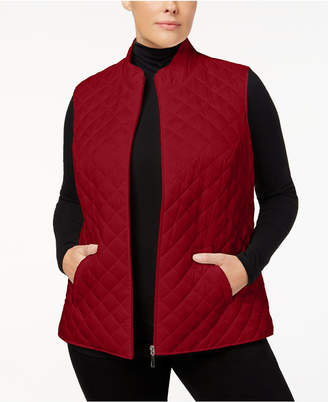 Karen Scott Plus Size Quilted Vest