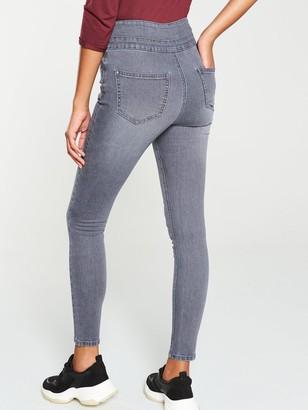 Very Macy High WaistSkinny Jean - Grey