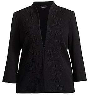 Misook Misook, Plus Size Misook, Plus Size Women's Embroidered Panel Jacket