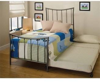 Hillsdale Furniture Edgewood Twin Spindle Bed with Trundle in Magnesium Pewter