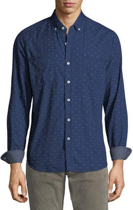 Report Collection Men's Long-Sleeve Printed Sport Shirt