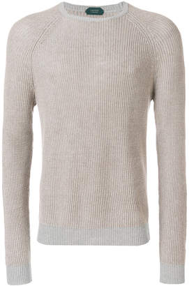 Zanone ribbed knit jumper