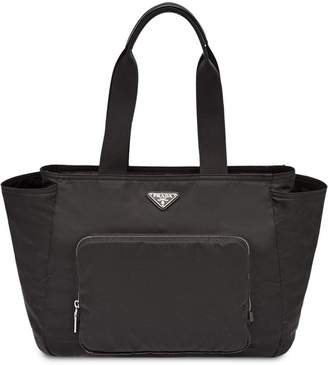 Prada logo top-handle tote