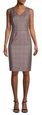 Carolina Herrera Printed Sleeveless Wool Dress