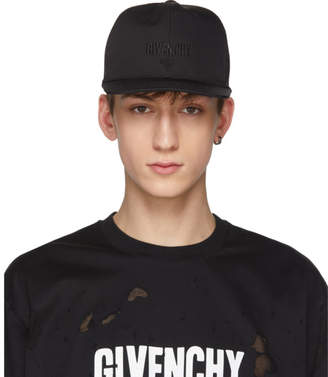 Givenchy Black Three-Star Logo Cap