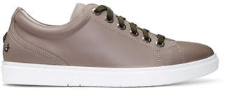 Jimmy Choo Taupe Leather Cash Sneakers