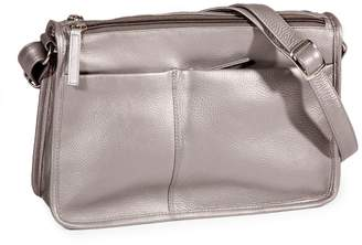 Derek Alexander Multi-Pocket Leather Shoulder Bag