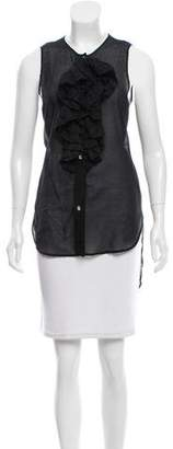 Thomas Wylde Sheer Sleeveless Tunic
