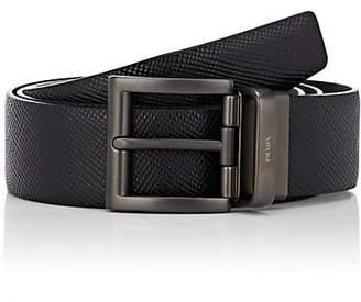 Prada Men's Reversible Leather Belt - Black