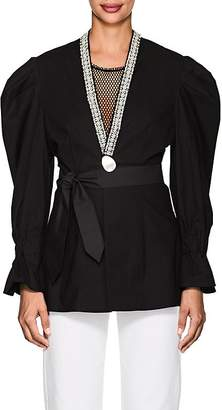 BLINDNESS Women's Embellished Cotton Puff-Sleeve Jacket