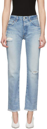 Moussy Vintage Blue Steele Straight Jeans