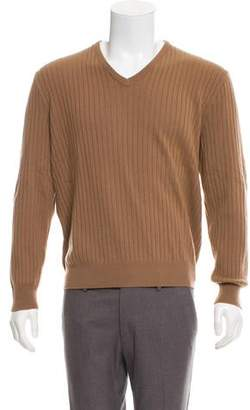 Ralph Lauren Purple Label Rib Knit Cashmere Sweater