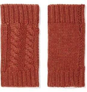 Autumn Cashmere Fingerless Cable-Knit Cashmere Gloves