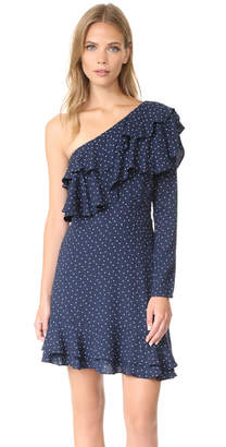 WAYF Laci One Shoulder Ruffle Tiered Dress $79 thestylecure.com