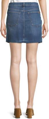 Joe's Jeans Raw-Hem A-Line Denim Skirt