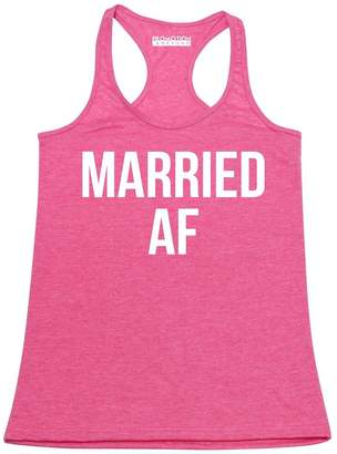 Abercrombie & Fitch Promotion & Beyond P&B Married Funny Wedding Women's Tank Top, M, H. Pink