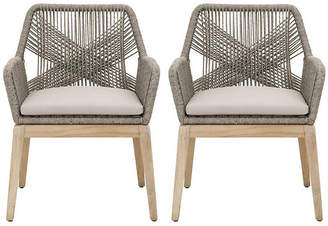 One Kings Lane Set of 2 Scout Outdoor Armchairs - Platinum