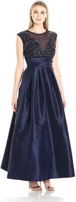 Marina Women's Taffeta Ball Gown with Beaded Top
